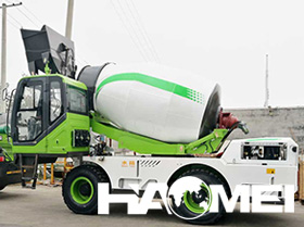 self-loading concrete truck mixer